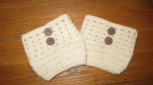 Cross Stitch Boot Cuffs by ELK Studio
