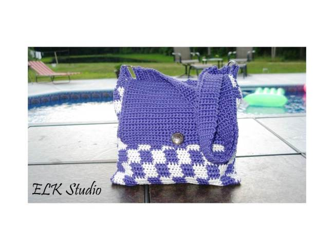 Summer checkers tote free pattern by ELK Studio