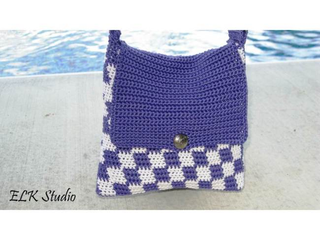Free Checkers tote pattern by ELK Studio