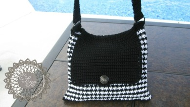 Free Houndstooth tote pattern by ELK Studio