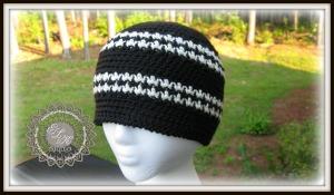 Free Houndstooth hat beanie pattern by ELK Studio