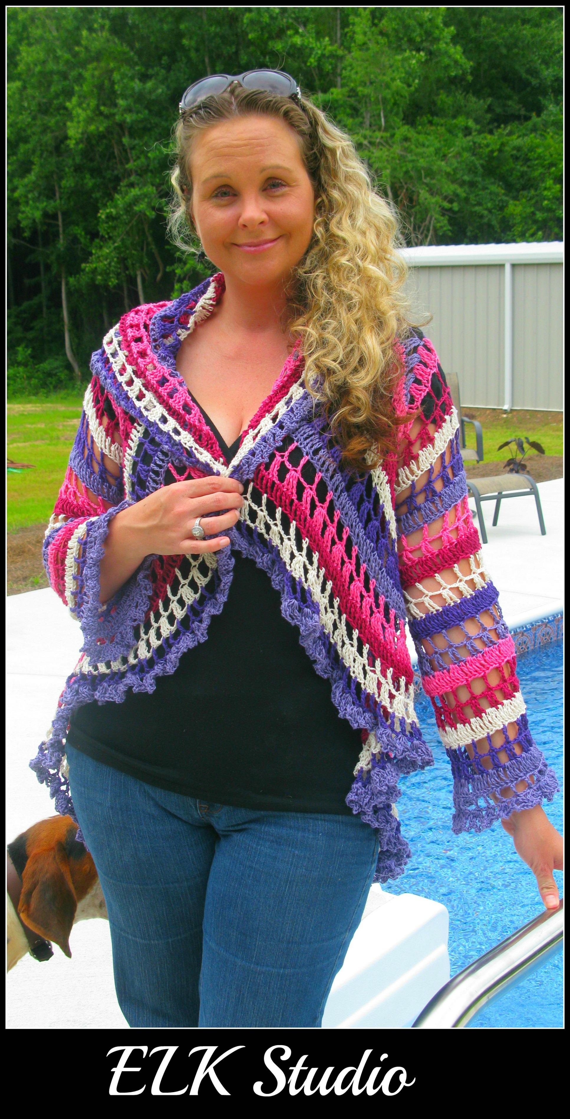 My First Crocheted Jacket! - ELK Studio - Handcrafted Crochet Designs