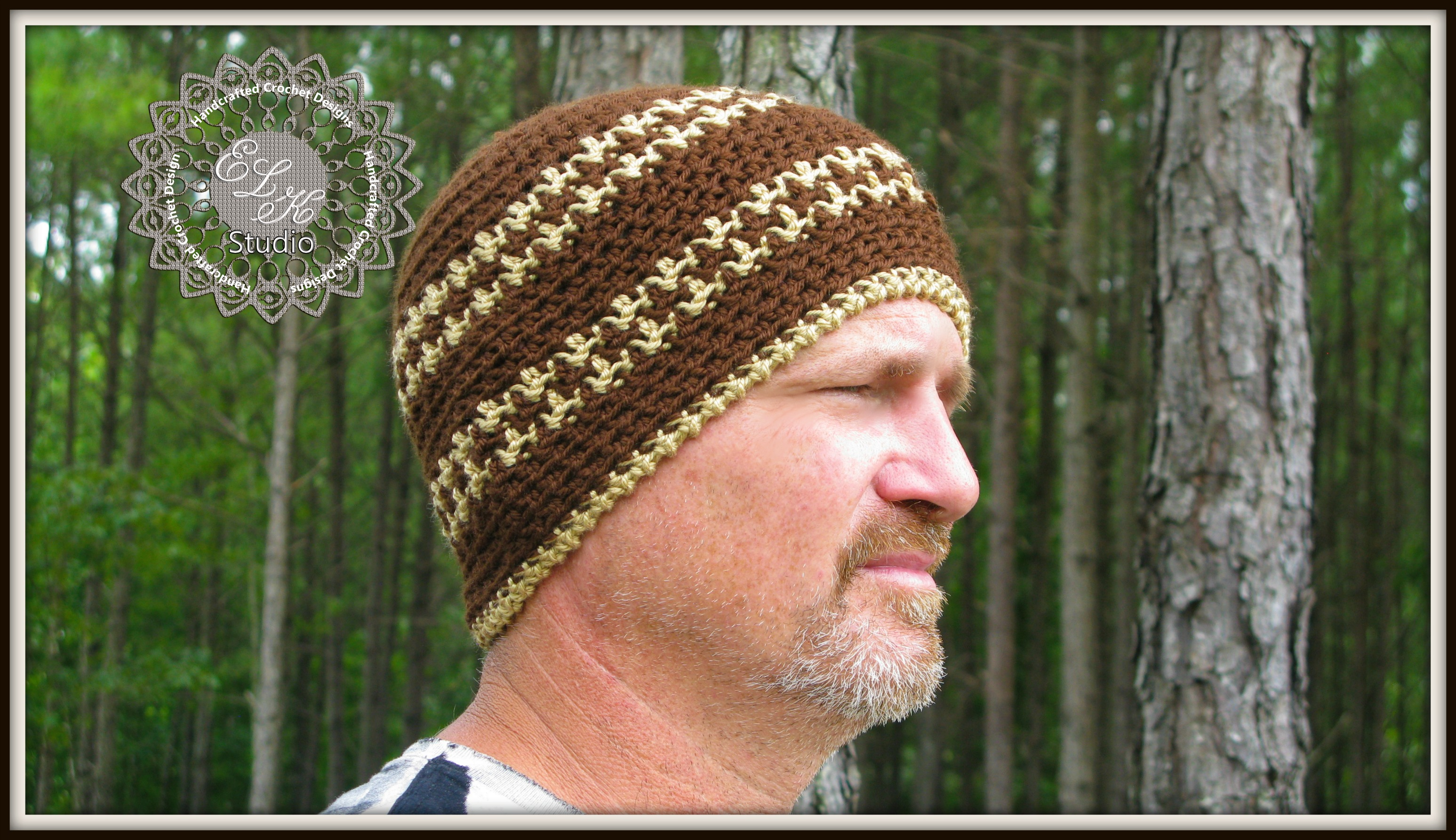 Free Crochet Hounds Tooth Hat Pattern - ELK Studio - Handcrafted ...