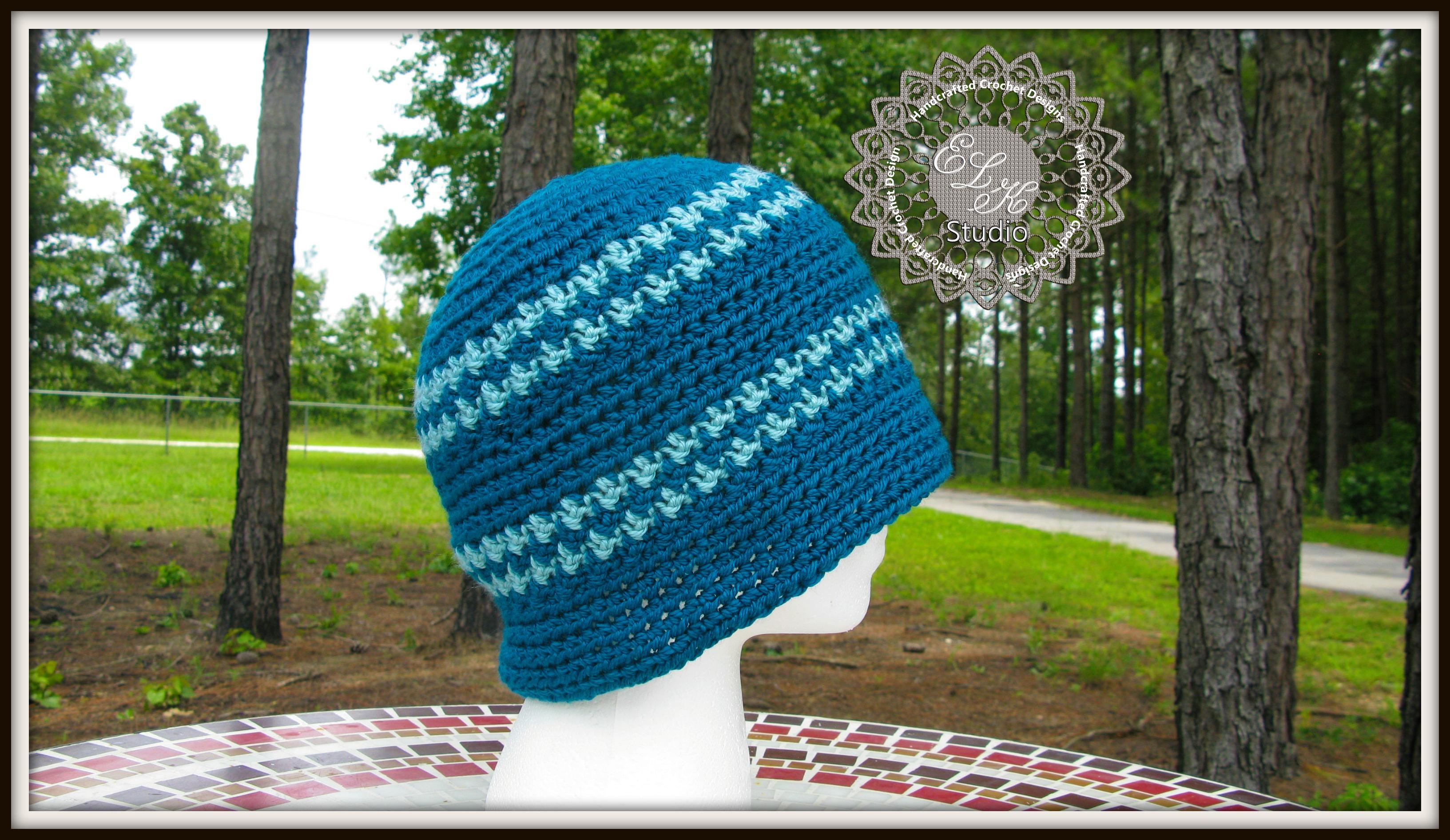 Free Crochet Hounds Tooth Hat Pattern | ELK Studio – Handcrafted ...
