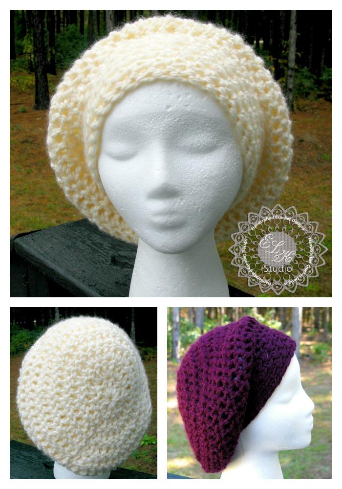 Free Crochet Pattern Chunky Slouchy Hat : Incredibly Simple Slouchy Hat ? Free Pattern! ELK Studio ...