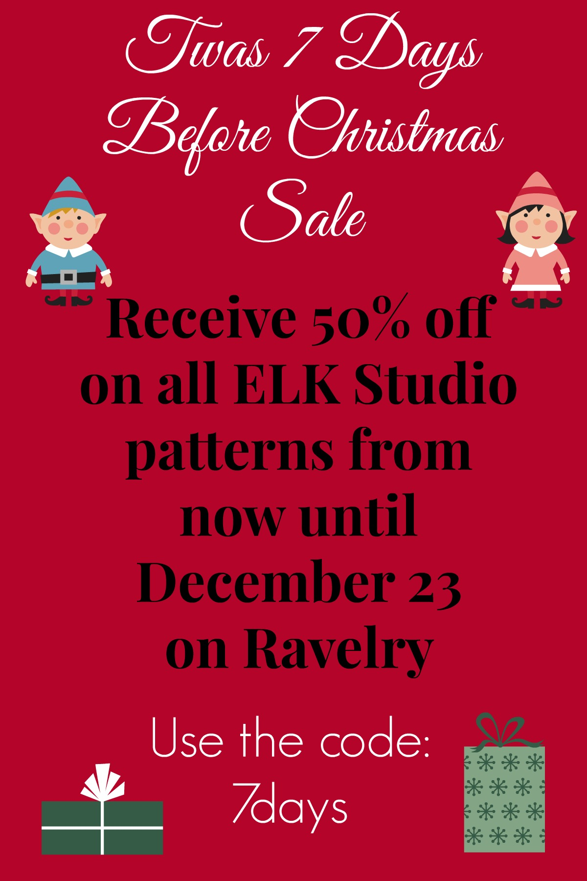 Twas 7 Days Before Christmas Sale! | ELK Studio – Handcrafted ...